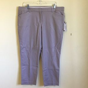 NWT Dalia modern fit gray cropped pants